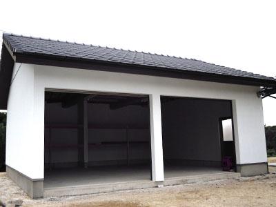 島根県江津市のガレージ工事 施工事例